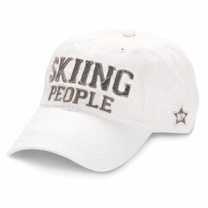 Skiing People by We People - White Adjustable Hat