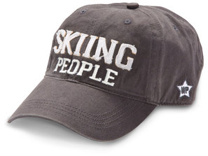 Skiing People by We People - Dark Gray Adjustable Hat
