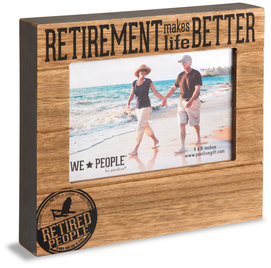 "Retired People by We People - 6.75"" x 7.5"" Frame (Holds 4"" x 6"" photo)"