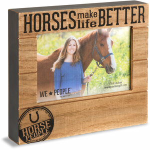 "Horse People by We People - 6.75"" x 7.5"" Frame (Holds 4"" x 6"" photo)"