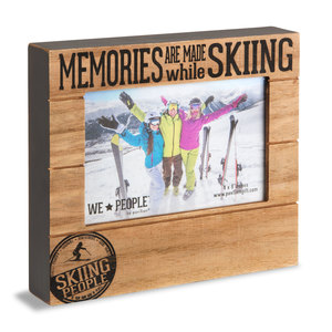 "Skiing People by We People - 6.75"" x 7.5"" Frame (Holds 4"" x 6"" photo)"