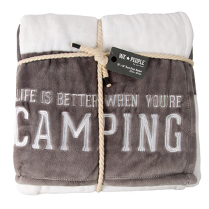 "Camping by We People - 50"" x 60"" Royal Plush Blanket"