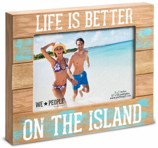 "Island People by We People - 7.25"" x 9"" Frame (Holds 5"" x 7"" photo)"