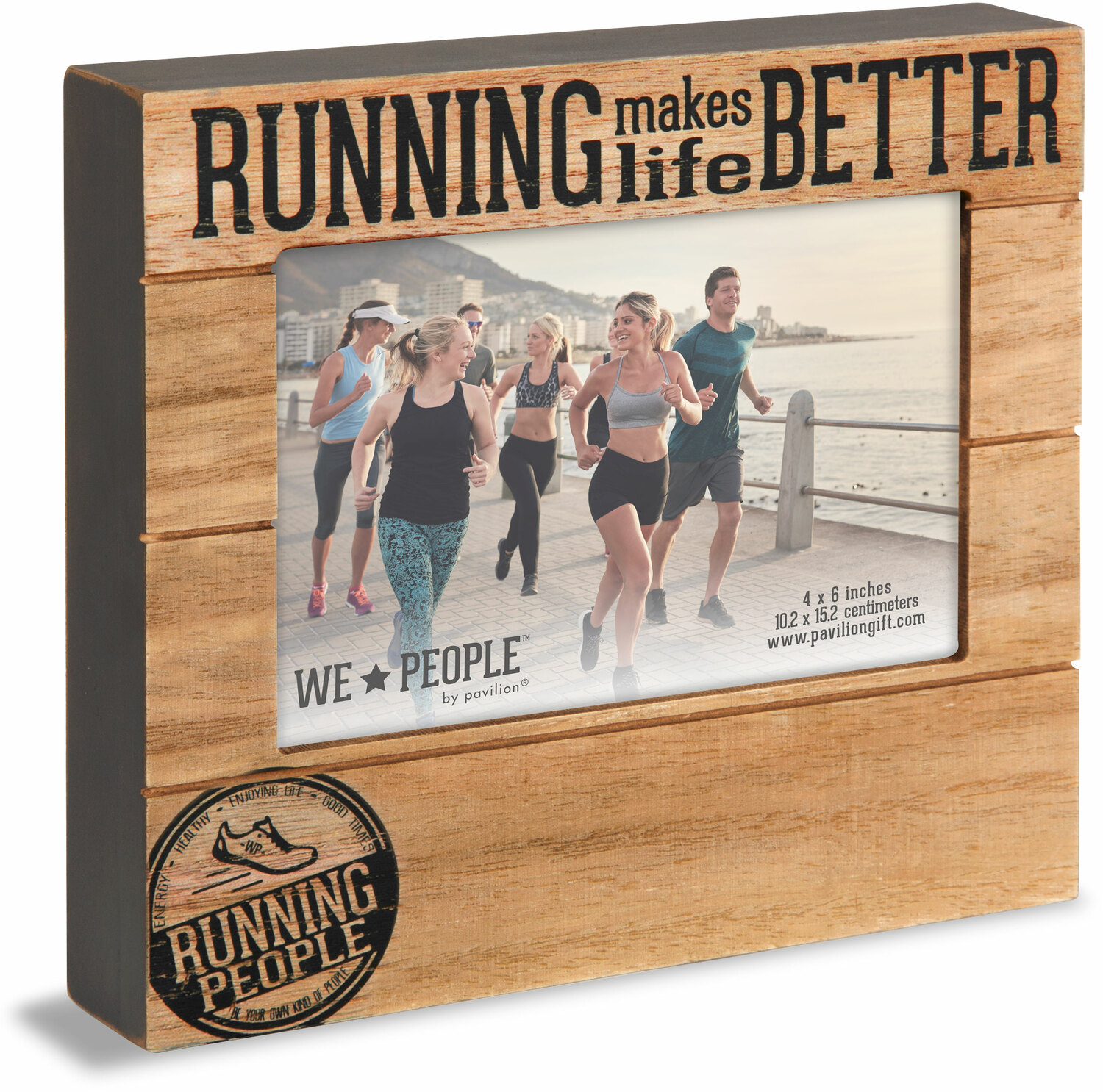 "Running People by We People - Running People - 6.75"" x 7.5"" Frame (Holds 4"" x 6"" photo)"