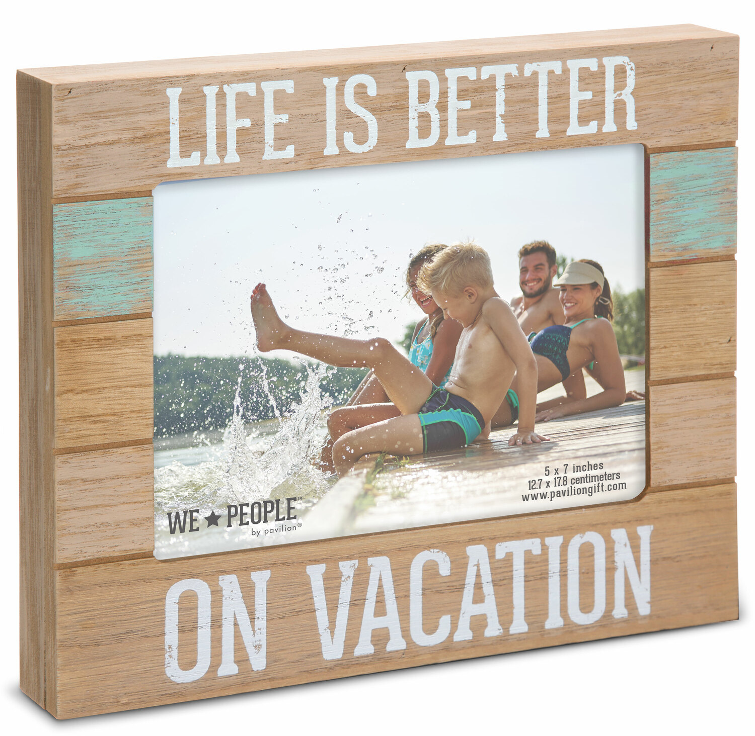 "Vacation People by We People - Vacation People - 9"" x 7.25"" Frame (Holds 5"" x 7"" photo)"