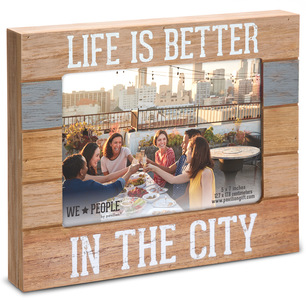 "City People by We People - 9"" x 7.25"" Frame (Holds 5"" x 7"" photo)"
