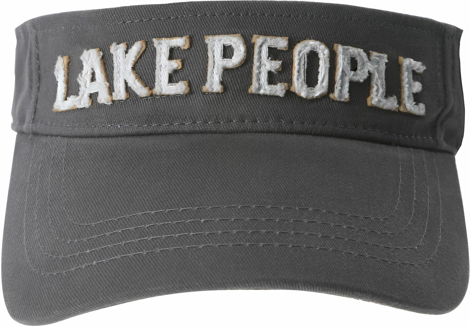 Lake People by We People - Lake People - Dark Gray Adjustable Visor Hat