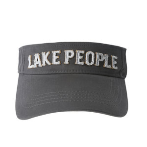 Lake People by We People - Dark Gray Adjustable Visor Hat