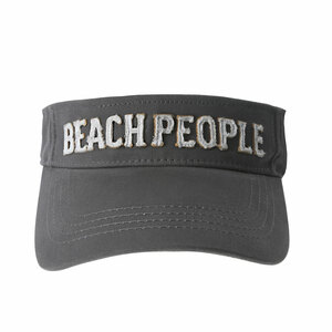 Beach People by We People - Dark Gray Adjustable Visor Hat