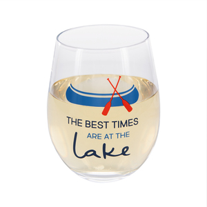 Best Times  by We People - 18 oz Stemless Wine Glass