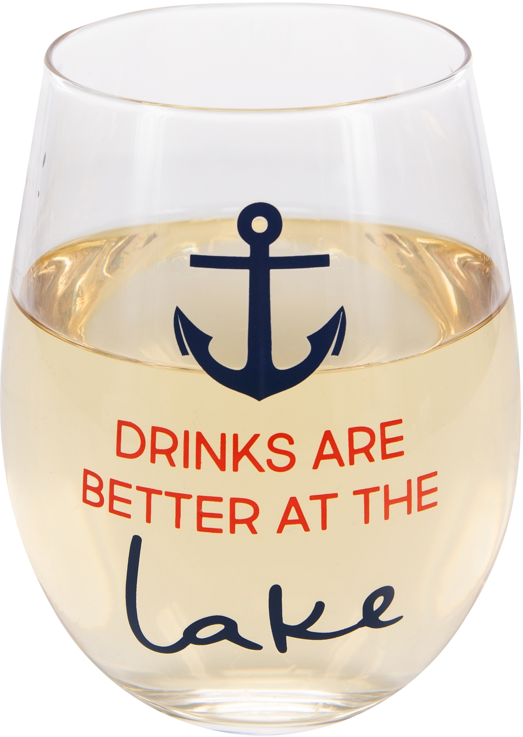 Better at the Lake  by We People - Better at the Lake  - 18 oz Stemless Wine Glass