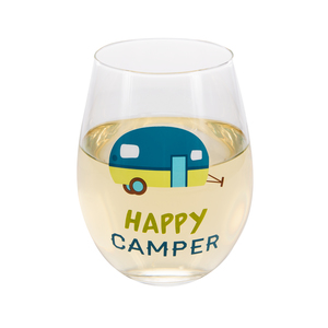 Happy Camper by We People - 18 oz Stemless Wine Glass