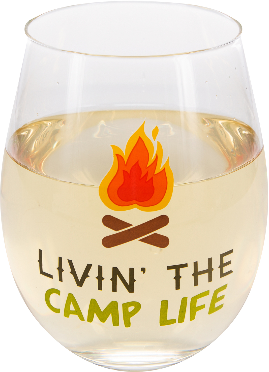 Livin' the Camp Life by We People - Livin' the Camp Life - 18 oz Stemless Wine Glass