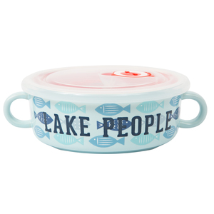 Lake People by We People - 13.5 oz Double Handled Soup Bowl with Lid