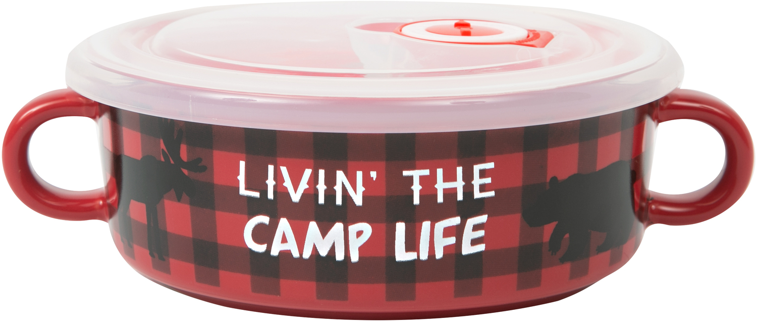 Camp Life by We People - Camp Life - 13.5 oz Double Handled Soup Bowl with Lid