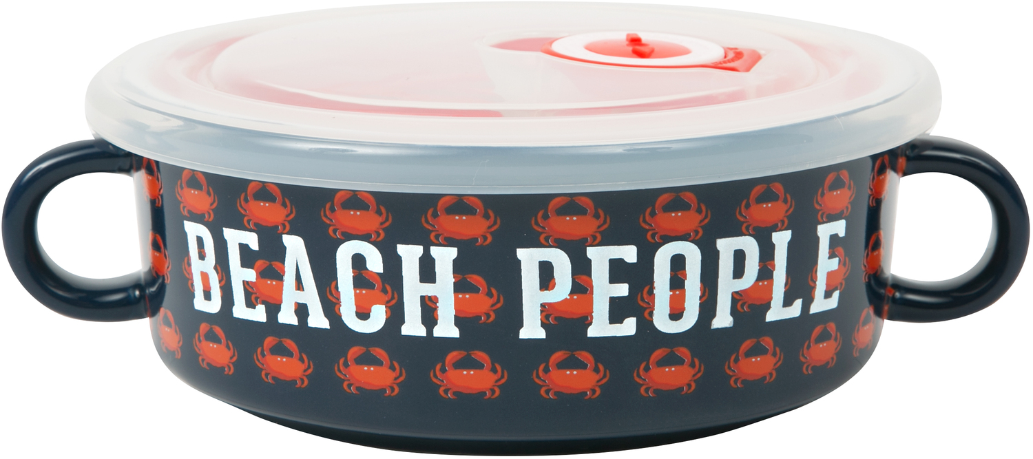 Beach People by We People - Beach People - 13.5 oz Double Handled Soup Bowl with Lid
