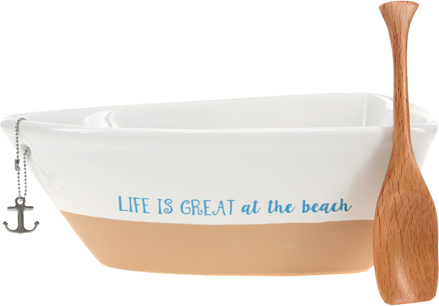 "At the Beach by We People - At the Beach - 7"" Boat Serving Dish with Oar"