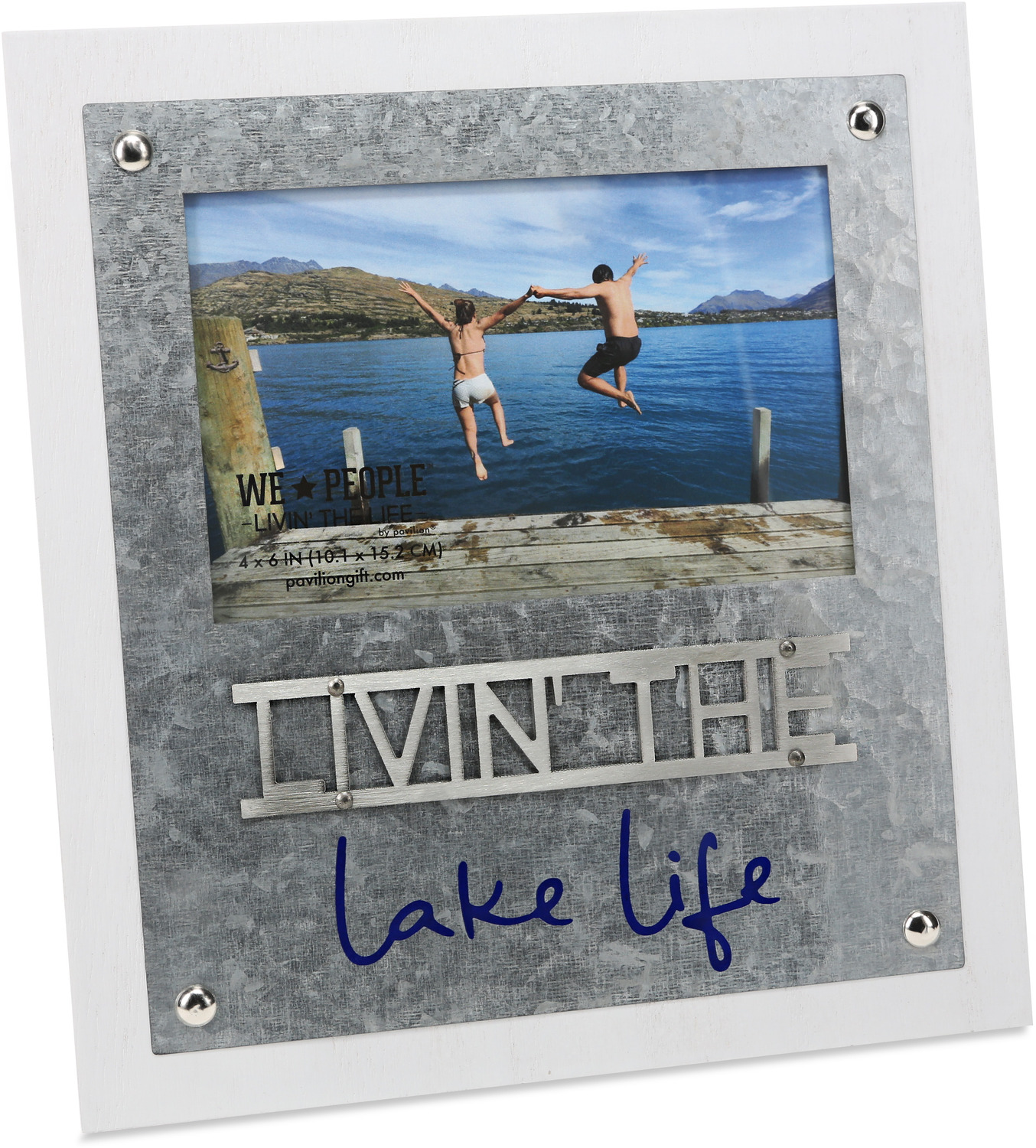 "Lake Life  by We People - Lake Life  - 8.25"" x 9"" Frame (Holds 4"" x 6"" Photo)"