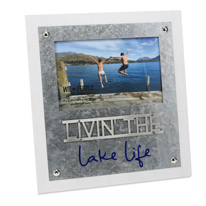 "Lake Life  by We People - 8.25"" x 9"" Frame (Holds 4"" x 6"" Photo)"