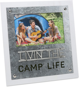 "Camp Life  by We People - 8.25"" x 9"" Frame (Holds 4"" x 6"" Photo)"