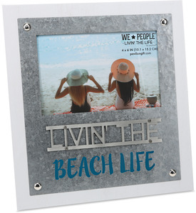 "Beach Life  by We People - 8.25"" x 9"" Frame (Holds 4"" x 6"" Photo)"