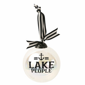 "Lake People by We People - 4"" Iridescent Glass Ornament"