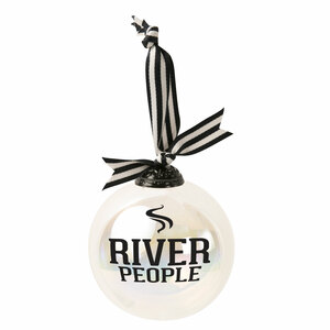 "River People by We People - 4"" Iridescent Glass Ornament"
