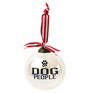 "Dog People by We People - 4"" Iridescent Glass Ornament"