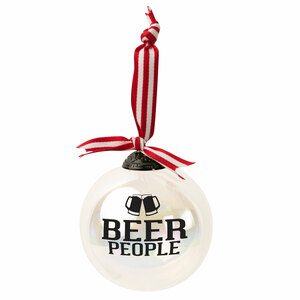 "Beer People by We People - 4"" Iridescent Glass Ornament"