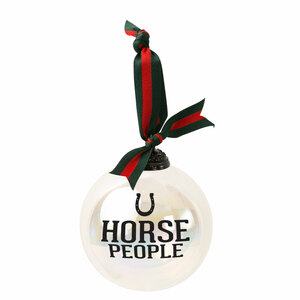 "Horse People by We People - 4"" Iridescent Glass Ornament"