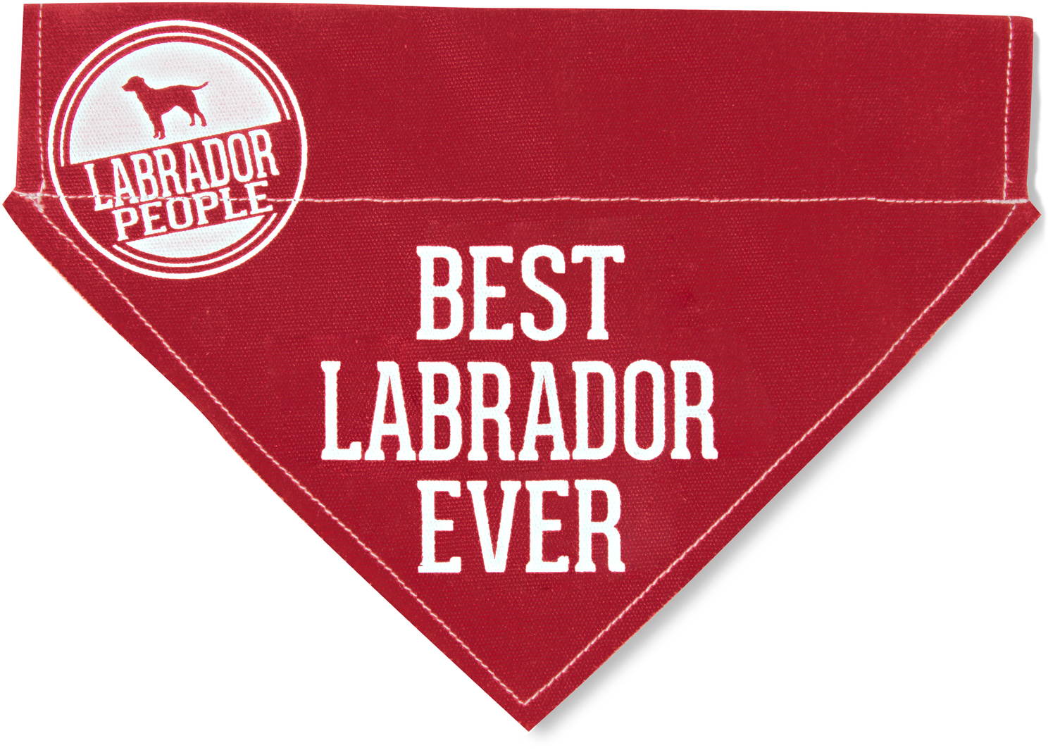 "Best Labrador by We Pets - Best Labrador - 12"" x 8"" Canvas Slip on Pet Bandana"