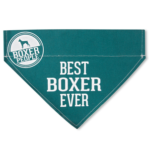 "Best Boxer by We Pets - 12"" x 8"" Canvas Slip on Pet Bandana"