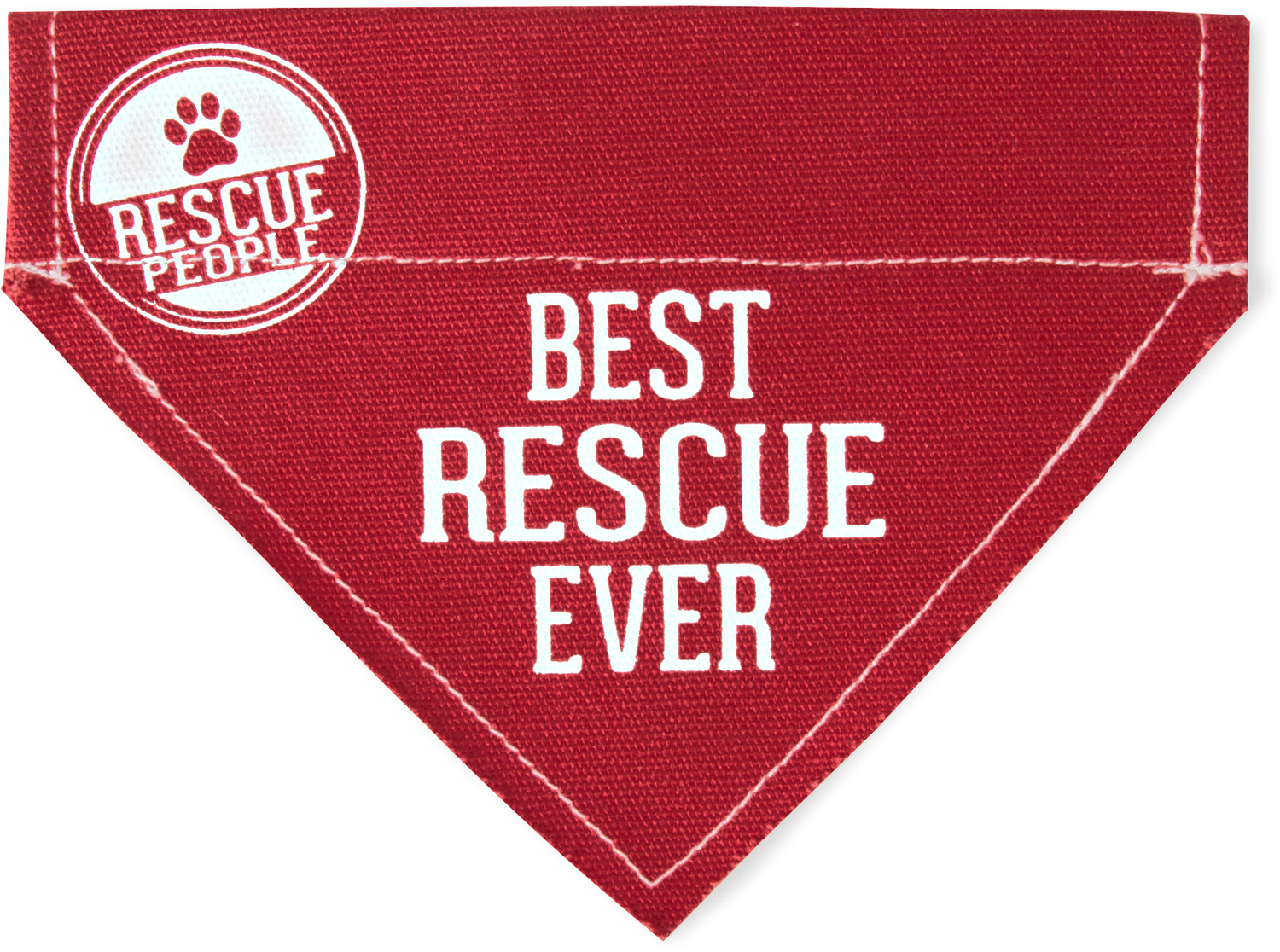 "Best Rescue by We Pets - Best Rescue - 12"" x 8"" Canvas Slip on Pet Bandana"