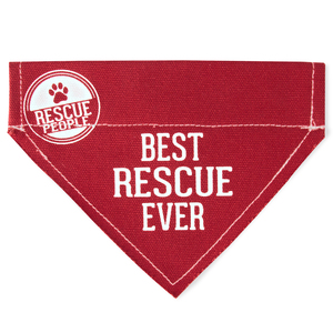 "Best Rescue by We Pets - 12"" x 8"" Canvas Slip on Pet Bandana"