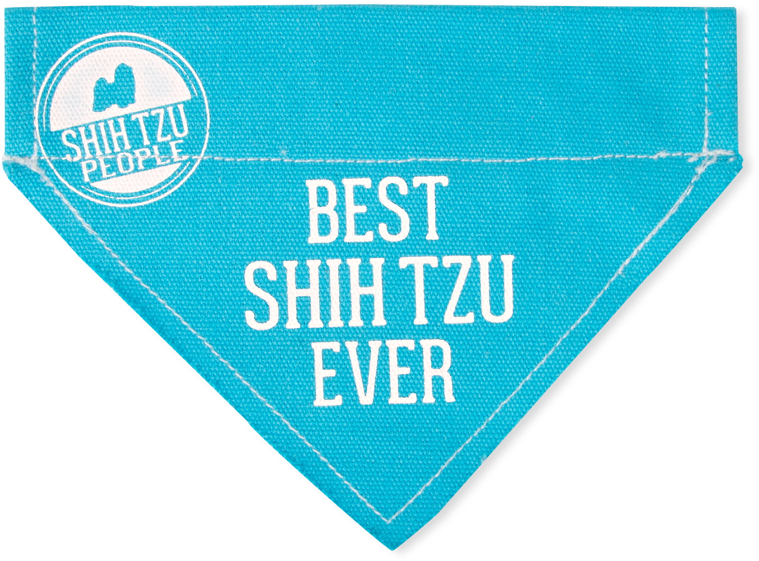 "Best Shih Tzu by We Pets - Best Shih Tzu - 7"" x 5"" Canvas Slip on Pet Bandana"
