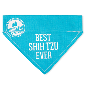 "Best Shih Tzu by We Pets - 7"" x 5"" Canvas Slip on Pet Bandana"