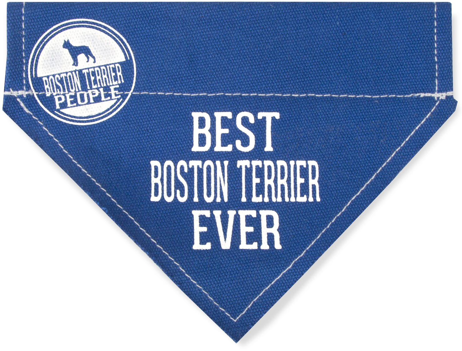 "Best Boston Terrier by We Pets - Best Boston Terrier - 7"" x 5"" Canvas Slip on Pet Bandana"