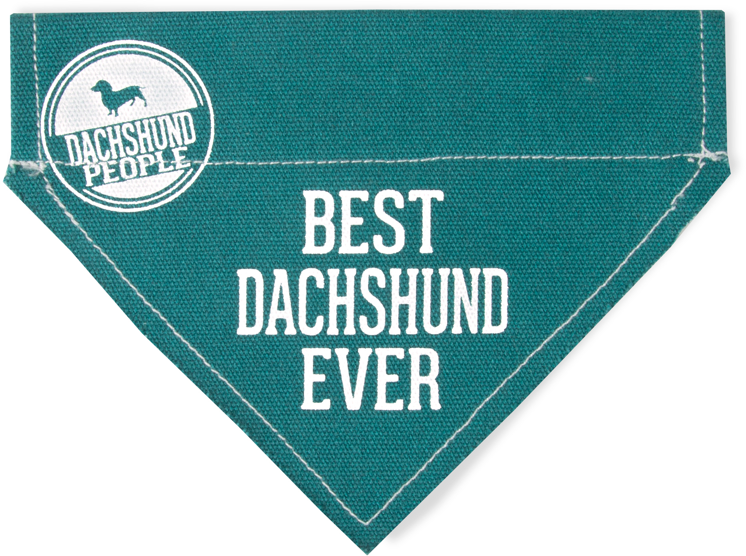 "Best Dachshund by We Pets - Best Dachshund - 7"" x 5"" Canvas Slip on Pet Bandana"