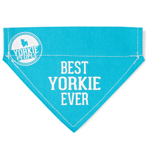 "Best Yorkie by We Pets - 7"" x 5"" Canvas Slip on Pet Bandana"