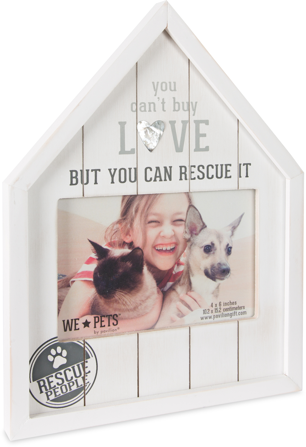 "Rescue People by We Pets - Rescue People - 8"" x 10.5"" Frame (Holds 6"" x 4"" Photo)"