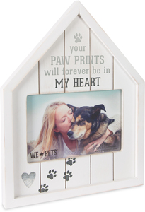 "Paw Prints by We Pets - 8"" x 10.5"" Frame (Holds 6"" x 4"" Photo)"