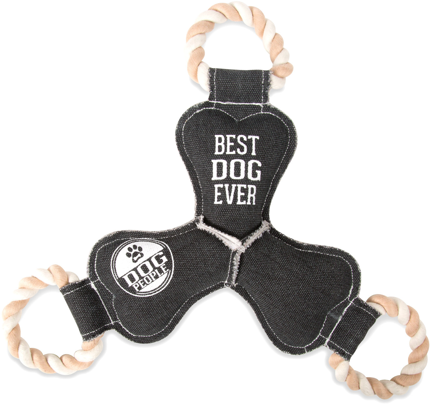 "Best Dog Ever by We Pets - Best Dog Ever - 14"" Canvas Dog Toy on Rope"
