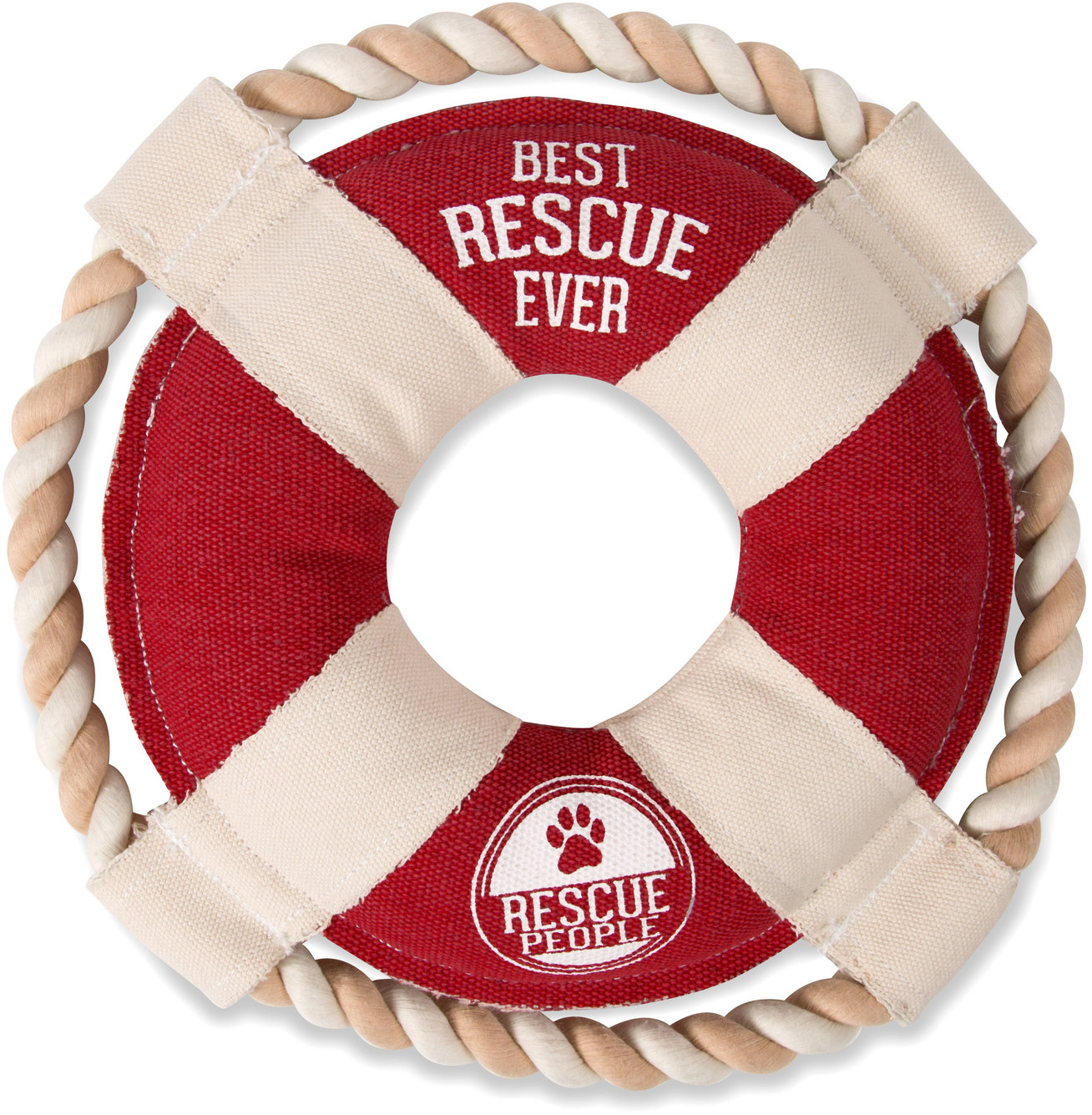 "Best Rescue Ever by We Pets - Best Rescue Ever - 11"" Canvas Dog Toy on Rope"