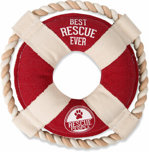 "Best Rescue Ever by We Pets - 11"" Canvas Dog Toy on Rope"