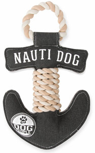 "Nauti Dog by We Pets - 13"" Canvas Dog Toy on Rope"