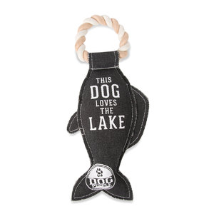 "Lake Dog by We Pets - 13"" Canvas Dog Toy on Rope"