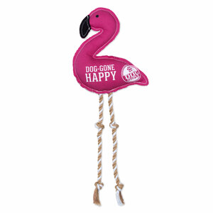 "Happy by We Pets - 14.75"" Canvas Dog Toy on Rope"