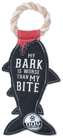 "My Bite by We Pets - 13"" Canvas Dog Toy on Rope"