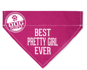 "Pretty Girl by We Pets - 12"" x 8"" Canvas Slip on Pet Bandana"