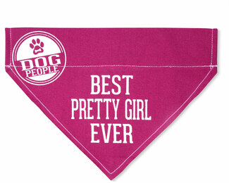 "Pretty Girl by We Pets - 7"" x 5"" Canvas Slip on Pet Bandana"